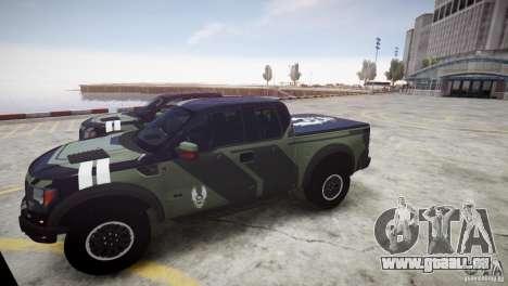 Ford F150 SVT Raptor 2011 UNSC pour GTA 4 Vue arrière