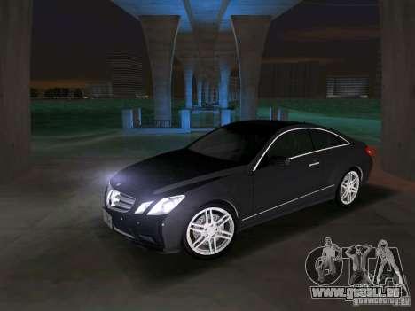 Mercedes-Benz E Class Coupe C207 für GTA Vice City Rückansicht