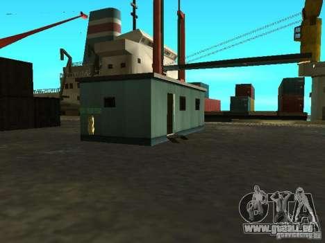 Renouvellement de la base militaire sur les quai pour GTA San Andreas dixième écran
