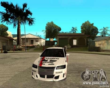 Lancer Evolution VIII, intervenierte die Amerika für GTA San Andreas Rückansicht