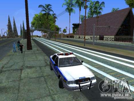 Ford Crown Victoria 2009 New York Police pour GTA San Andreas vue de côté