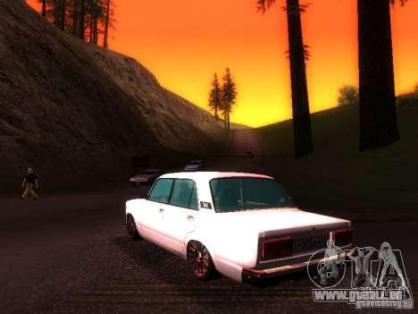 VAZ 2107 Lambo pour GTA San Andreas sur la vue arrière gauche