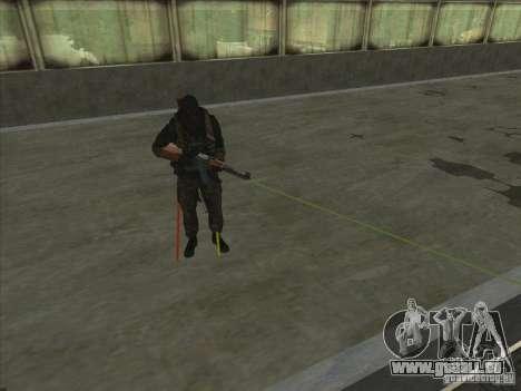 Weapon with laser für GTA San Andreas her Screenshot