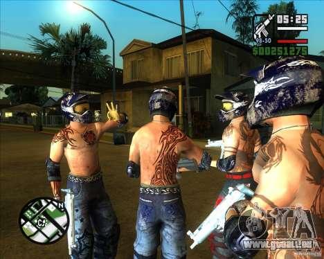 Nouveaux skins pour rainure pour GTA San Andreas