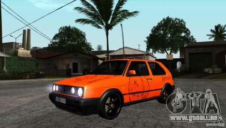 VW Golf 2 pour GTA San Andreas vue intérieure