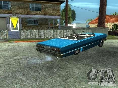 Chevrolet Impala 1964 (Lowrider) pour GTA San Andreas laissé vue