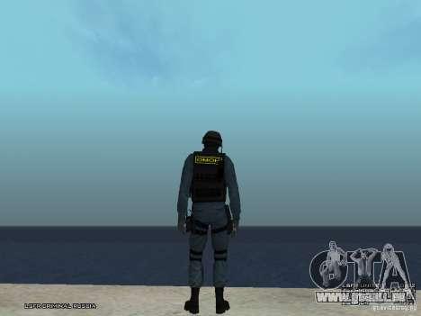 Agent de POLICE d'émeute pour GTA San Andreas quatrième écran