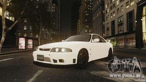 Nissan Skyline R33 GTR V-Spec für GTA 4 hinten links Ansicht
