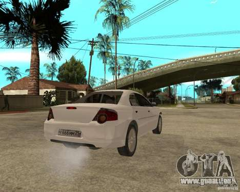 GAZ Volga Siber AT 2,5 pour GTA San Andreas sur la vue arrière gauche