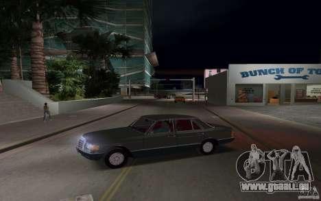 Mercedes-Benz W126 500SE pour une vue GTA Vice City de la gauche
