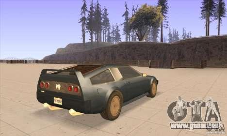 Deluxo HD pour GTA San Andreas vue de droite