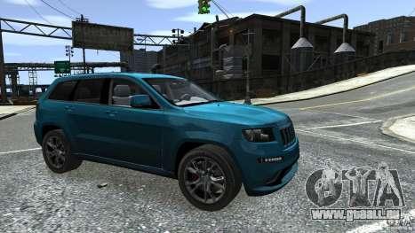 Jeep Grand Cherokee STR8 2012 für GTA 4 obere Ansicht