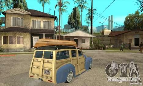 Ford Woody Custom 1946 pour GTA San Andreas vue de droite