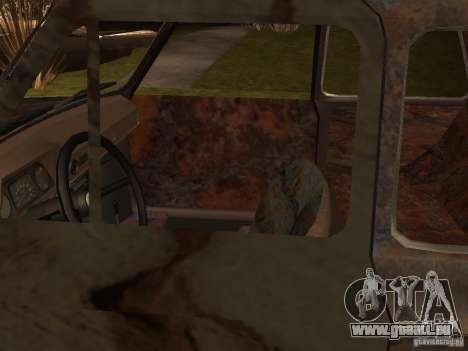 ZAZ-968 abandonné pour GTA San Andreas sur la vue arrière gauche