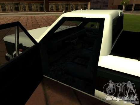 New Tuned Bobcat pour GTA San Andreas vue intérieure