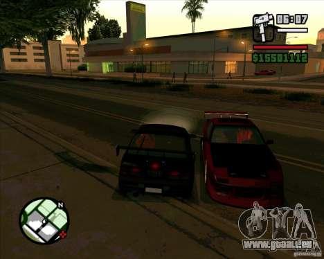 MAZDA FC3S DRIFT TUNE pour GTA San Andreas laissé vue
