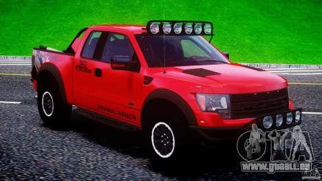 Ford F150 Racing Raptor XT 2011 pour GTA 4 vue de dessus