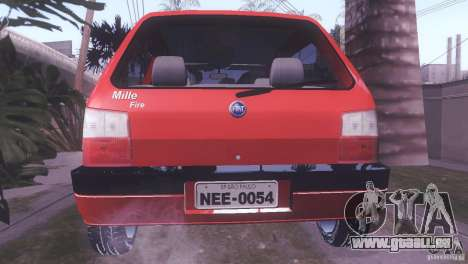 Fiat Uno Mile Fire Original für GTA San Andreas linke Ansicht