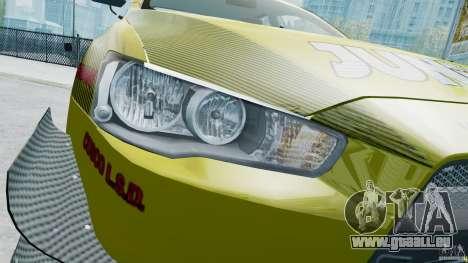 Mitsubishi Lancer X JUN pour GTA 4 est une vue de l'intérieur