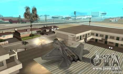 F-22 Grey pour GTA San Andreas vue de dessus