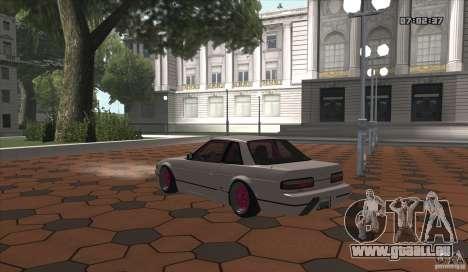 Nissan Silvia S13 Ks pour GTA San Andreas sur la vue arrière gauche