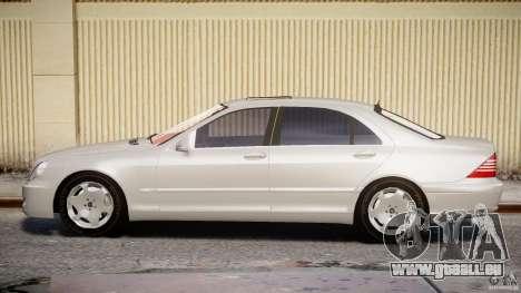 Mercedes-Benz W220 pour GTA 4 est une vue de l'intérieur