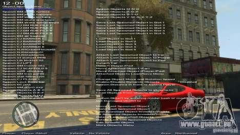 Einfache Trainer Version 6.2 für 1.0.6.0-1.0.7.0 für GTA 4 fünften Screenshot