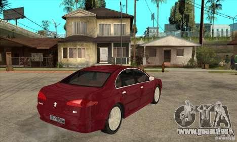 Peugeot 607 pour GTA San Andreas vue de droite