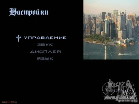 Nouveau menu dans le style de New York pour GTA San Andreas deuxième écran
