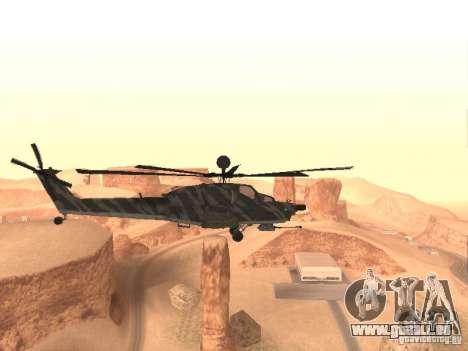 MI 28 Havok pour GTA San Andreas sur la vue arrière gauche