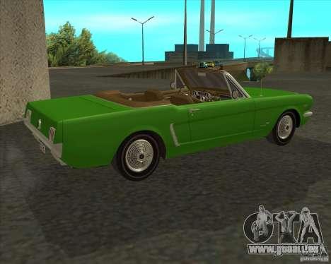 Ford Mustang 289 1964 pour GTA San Andreas laissé vue