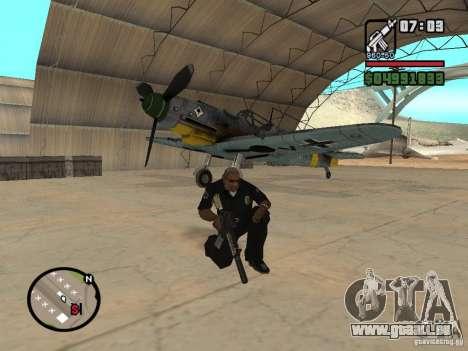 BF-109 G-16 für GTA San Andreas Innenansicht
