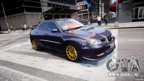 Subaru Impreza STI Wide Body pour GTA 4 Salon