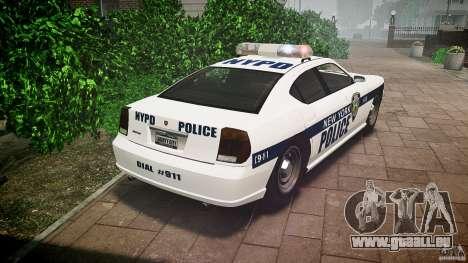 FIB Buffalo NYPD Police pour GTA 4 Vue arrière de la gauche