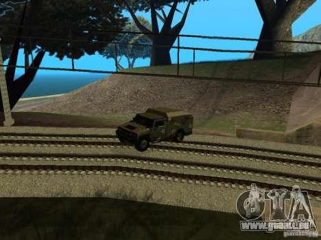 Hummer H2 Army pour GTA San Andreas vue arrière