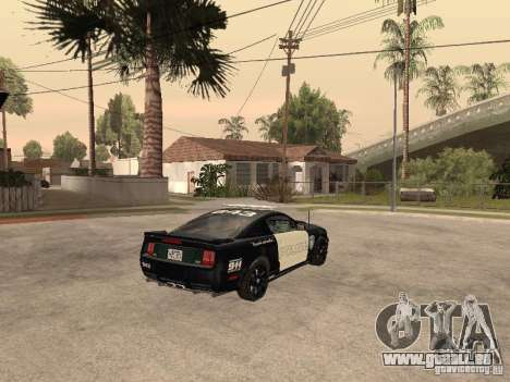 Saleen S281 2007 Barricade pour GTA San Andreas sur la vue arrière gauche
