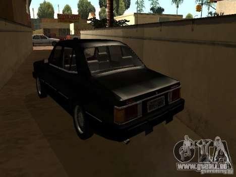 Chevrolet Opala BMT pour GTA San Andreas sur la vue arrière gauche