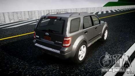 Ford Escape 2011 Hybrid Civilian Version v1.0 pour GTA 4 vue de dessus