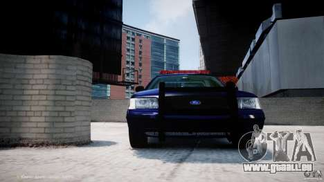 Ford Crown Victoria New York State Patrol [ELS] pour GTA 4 roues