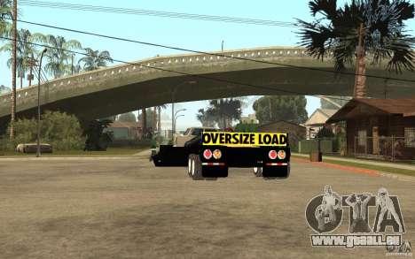 Trailer lowboy transport pour GTA San Andreas sur la vue arrière gauche