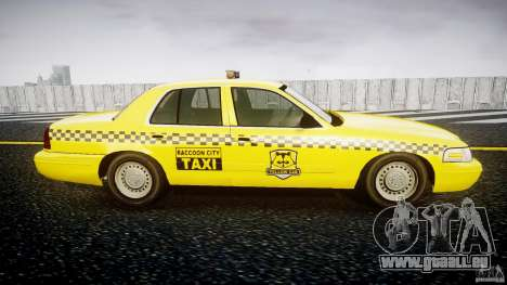 Ford Crown Victoria Raccoon City Taxi für GTA 4 Rückansicht