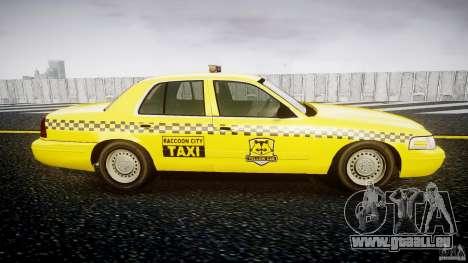 Ford Crown Victoria Raccoon City Taxi pour GTA 4 Vue arrière