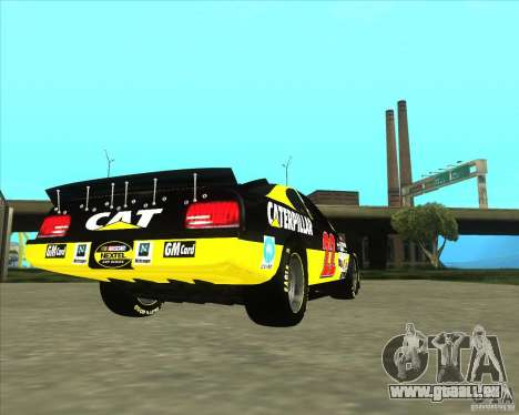 Dodge Nascar Caterpillar für GTA San Andreas zurück linke Ansicht