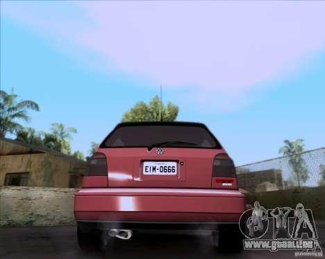 Volkswagen Golf MK3 VR6 pour GTA San Andreas sur la vue arrière gauche