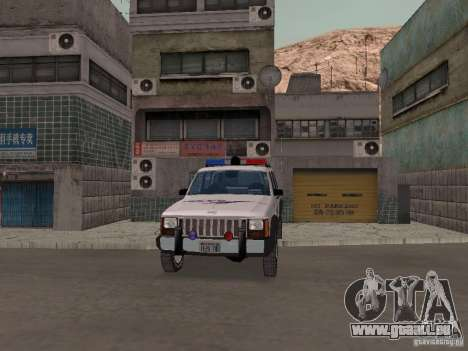 Jeep Cherokee Police 1988 pour GTA San Andreas vue intérieure