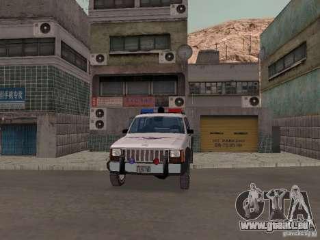 Jeep Cherokee Police 1988 für GTA San Andreas Innenansicht