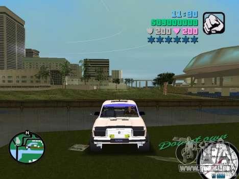 VAZ 2107 pour GTA Vice City vue arrière
