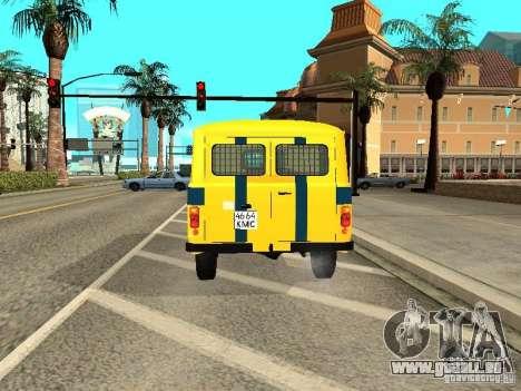 UAZ 2206 Polizei für GTA San Andreas rechten Ansicht