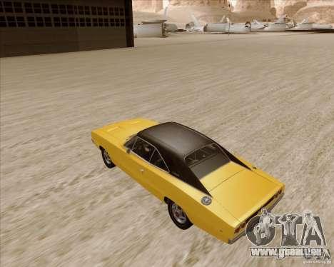 Dodge Charger RT 1968 Bullit clone für GTA San Andreas zurück linke Ansicht
