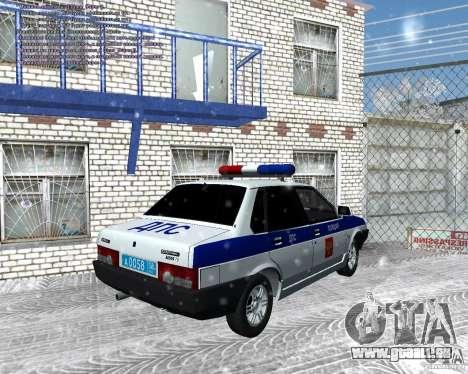 VAZ 21099 DPS pour GTA San Andreas laissé vue